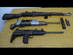File These firearms were seized by the police.