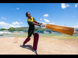 Rashada Williams of Jamaica Womens senior cricket team at the Lucas Cricket Club in Rollington Town, Kingston, on Wednesday.