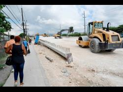 Construction along Three Miles.
