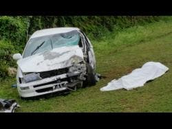 The Corolla in which Clarke was a passenger. (Inset) The other vehicle involved in the accident.