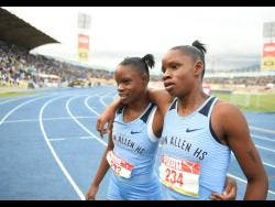 Edwin Allen's Tia (left) and her twin sister, Tina Clayton.
