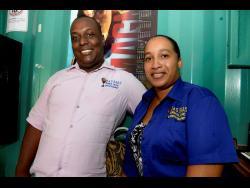 Heads of J&S Bars Jahrhone Morris (left) and his wife Simone.