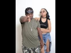 Bad Gyal Marie (right) poses with her mentor, Likkle Shabba, who is also part of Notorious International.