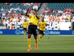 Jamaica's Leon Bailey in action during a Concacaf Gold Cup match against Panama on June 30.