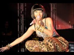 American hip-hop sensation Nicki Minaj in a Lady Saw-like performance at Reggae Sumfest 2011.