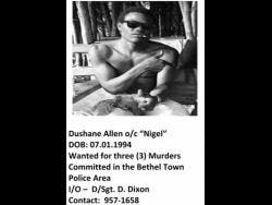 Former Westmoreland most wanted Dushane Allen.