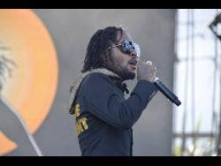 Jahvillani performing at Reggae Sumfest last Saturday morning.