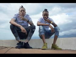 Dancehall artistes Intence (left) and I Waata