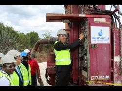 Prime Minister Andrew Holness at the launch of the Essex Valley project in January.
