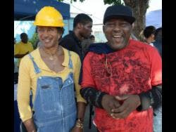Sly Dunbar (left) and Robbie Shakespeare.