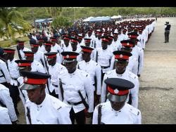 Young constables graduate from the National Police College of Jamaica.