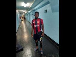 St Andrew Technical High School's Shamar Daley stands in the McDonald Tunnel at the National Stadium after his school defeated Excelsior High 4-0 last Wednesday.
