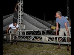 Preparations are in high gear for tomorrow's staging of Ghetto Splash at the Drewsland Stadium in St Andrew.