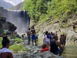 Reggae Falls attracted scores of persons on Sunday as COVID-19 restrictions, which prohibited the use of beaches and rivers, were lifted.