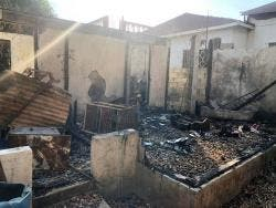 The entire house was gutted in the fire.
