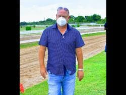 Champion trainer Anthony Nunes is seen at Caymanas Park in Portmore, St Catherine, on Saturday, December 19, 2020.
