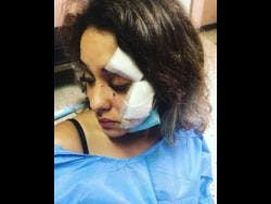 Izzy Rawshdeh sustained injuries to her face and had to be taken to receive medical assistance at hospital.