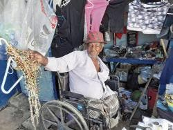Leonard Small, who has lost both legs to diabetes, lives in a shed that is located metres away from the Spanish Town Hospital in St Catherine.
