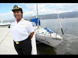 Kimone Clair, navigating officer at the Caribbean Maritime University's Palisadoes campus.