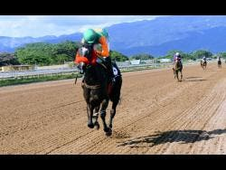 FILE ACTION ANN (front), ridden by Omar Walker, is well clear of rivals and wins the fifth race at Caymanas Park on Wednesday, December 23, 2020.