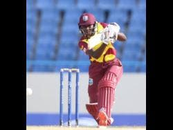 West Indies Women's captain Stafanie Taylor in action against Pakistan in their third and final Twenty20 International game in St John's, Antigua, yesterday.