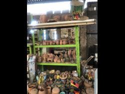 Some of the pieces created in the Trench Town Ceramics and Art Centre.
