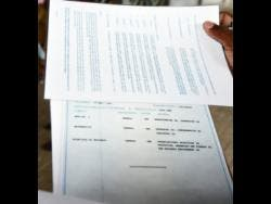 A copy of a bogus Caribbean Examinations Council certificate that was presented by a police hopeful at a JCF recruitment drive in Spanish Town, St Catherine, in May.