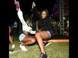 Revellers enjoy themselves at I Love Soca, which was held at Stadium East in St Andrew on July 14, following the reopening of the entertainment sector that has been closed for nearly a year due to the COVID-19 pandemic.