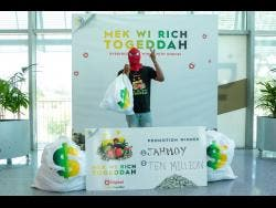Grand prize winner Jahmoy is over the moon.