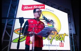Joesph Bogdanovich, principal of Reggae Sumfest, which has Red Stripe as one of its main sponsors.