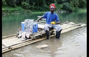 Glen Jervis operates his 'Floating Bar' along the Rio Grande in Portland.