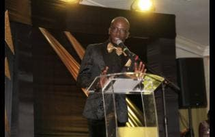 Markland 'Action' Edwards speaks during the Sterling Gospel Music Awards last Saturday.