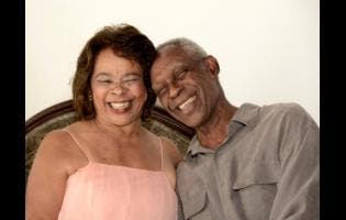 Herman and Eulie Westcarr were all smiles.