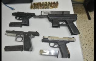 The Hanover police seized a Taurus 9mm semi-automatic pistol, one mini Taurus 9mm pistol, one Smith and Wesson 9mm pistol, and an Intratec sub-machine gun as well as 76 rounds of ammunition at a grave site on Sunday.