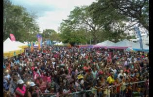 A section of the crowd at Funfest, held on Easter Monday.