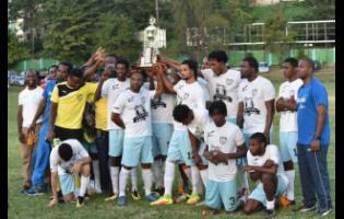 Faulkland FC celebrate after winning the JFF Western Confederation midseason final last year.