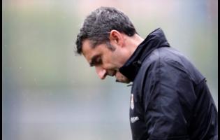 FC Barcelona's coach Ernesto Valverde.