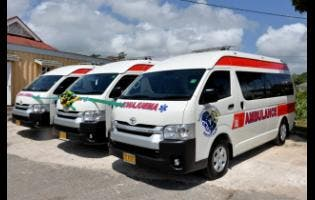 The three retrofitted ambulances.