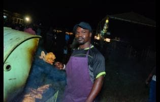 Pan chicken vendor Kedley Morrison.