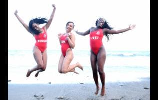 Sumfest models (from left) Dahlia Fennell, Tiffany Dunn and Kerone McLean.