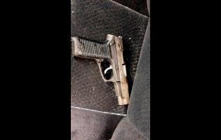 The Ruger pistol which was reportedly taken from one of the men.