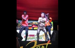 Reggae Sumfest street dance in Montego Bay, St James.