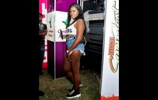 Nicola Cameron came prepared for a night of fun at Reggae Sumfest's World Sound Clash that was held at the Pier One Complex in Montego Bay, St James, last Thursday.