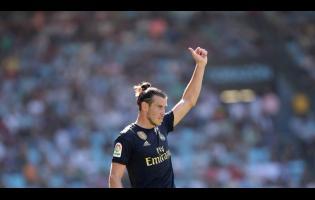 Real Madrid's Gareth Bale gestures during the Spanish La Liga  match between Celta and Real Madrid at the Balaídos Stadium last Saturday.