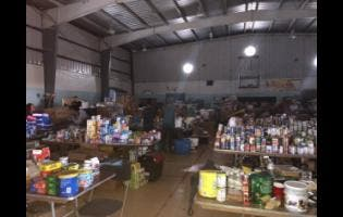 The items donated to relief efforts in The Bahamas.