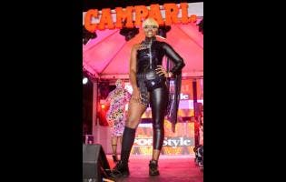Sherice Dixon was a stunner in her Catwoman-inspired get-up which earned her the crown of Campari Pop Style's 'Most Stylish Female'.