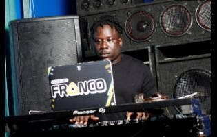 Disc jockey Franco remains focused, unfazed by spotlight and the expectations of the audience.