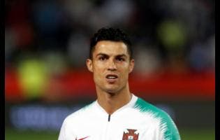 In this Sept. 7, 2019, file photo, is Portugal's Cristiano Ronaldo prior to playing their Euro 2020 group B qualifying football match.