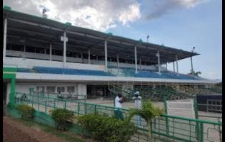 The grandstand at Caymanas Park is empty on Tuesday, March 17, as horseracing resumed without spectators, after a two-meet break due to concerns over the coronavirus. Another race meet was held on March 21 without spectators before the track was closed indefinitely.