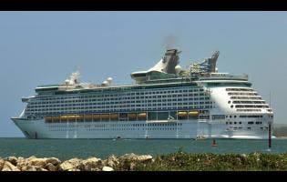 Royal Caribbean Cruise Line's, Adventure of the Seas, docked in Falmouth, Trelawny.